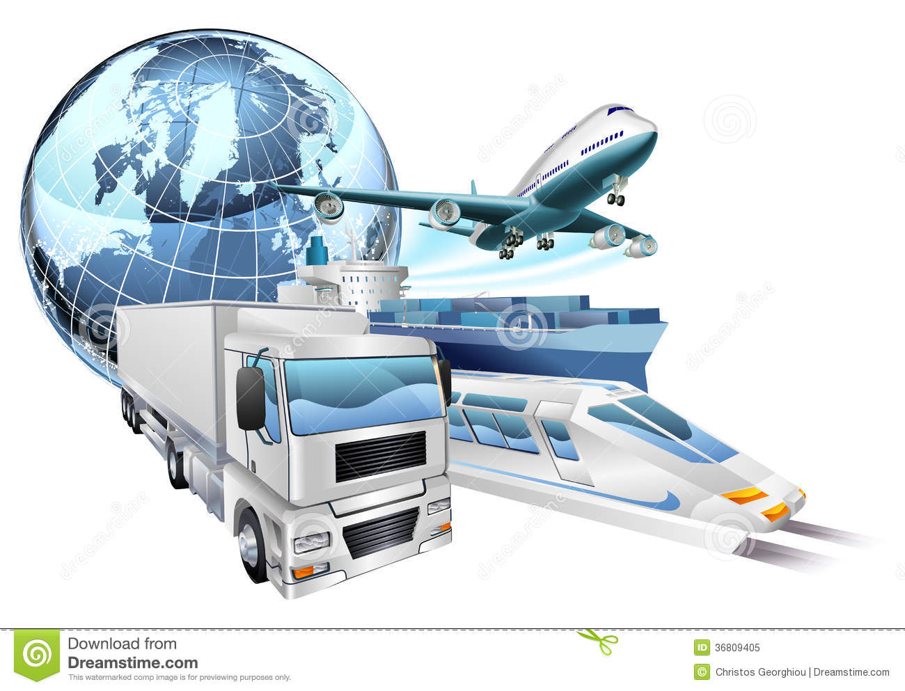 Logistics Stock Illustrations.