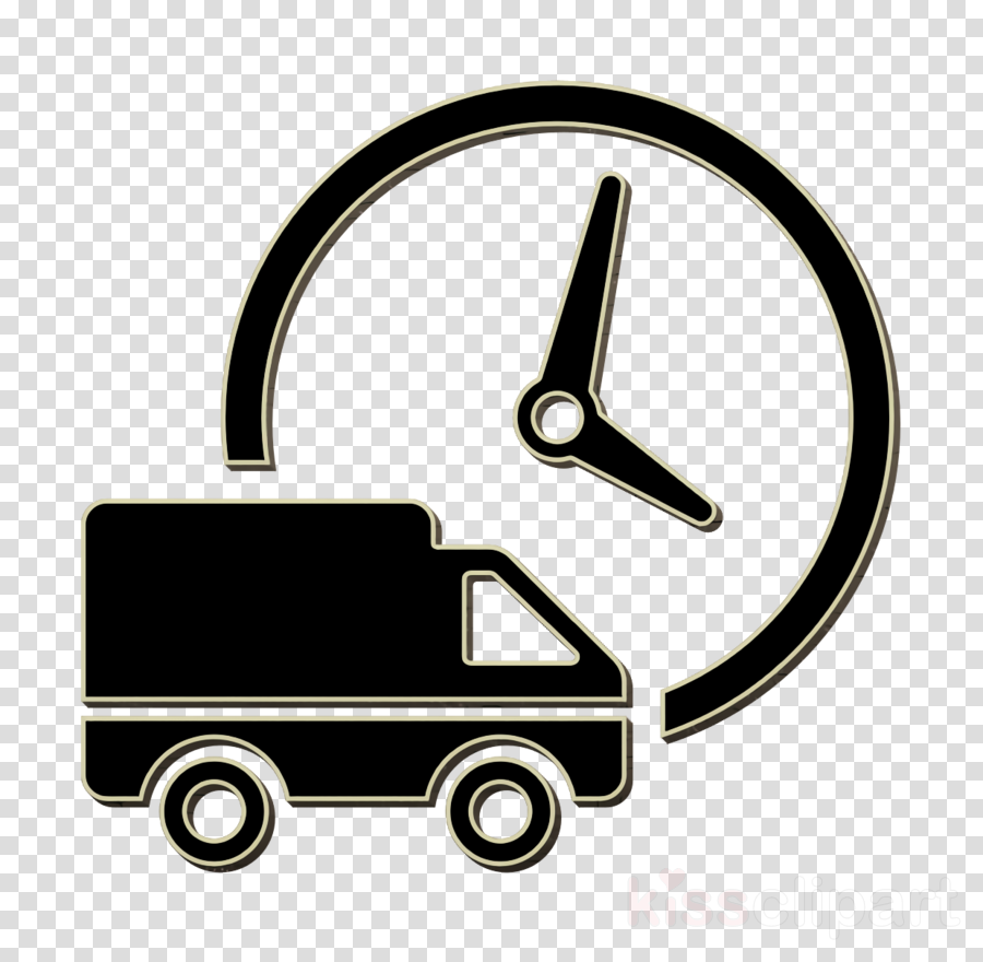Truck icon transport icon Logistics delivery truck and clock.
