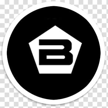 BB logos Desktop icons x , pentagon B logo transparent.