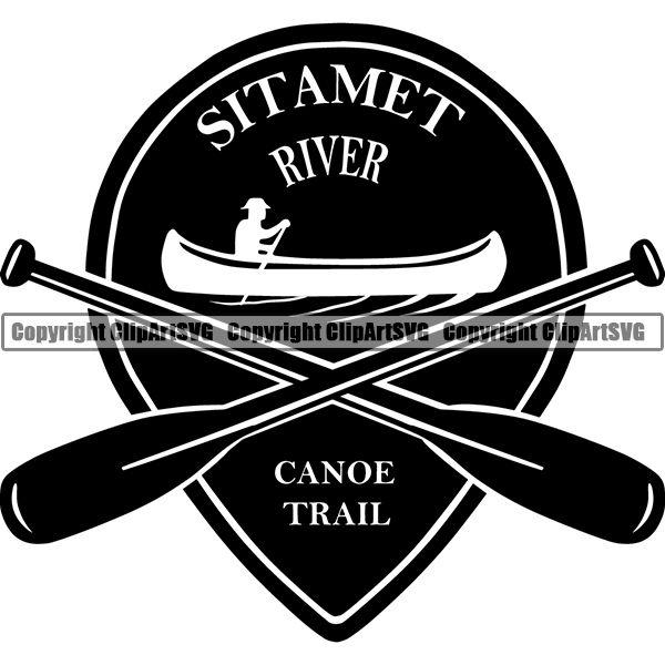 Camping Hiking Logo Clipart SVG.