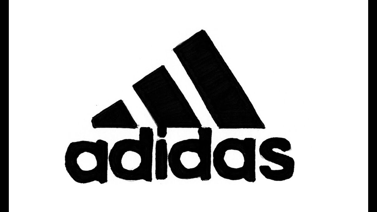 How to Draw the Adidas Logo (symbol, emblem).
