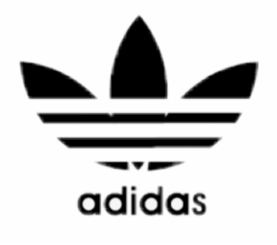 adidas #black #logo #icon #aesthetic #tumblr #sticker.