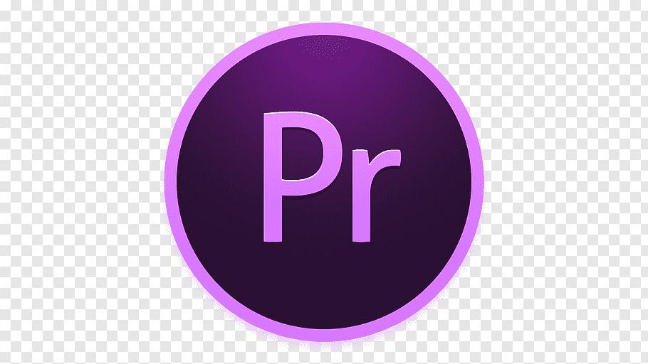 Pr logo, purple symbol violet, Adobe Premiere free png.