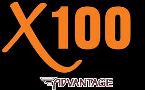 X100 by Advantage Logo Vector (.SVG) Free Download.