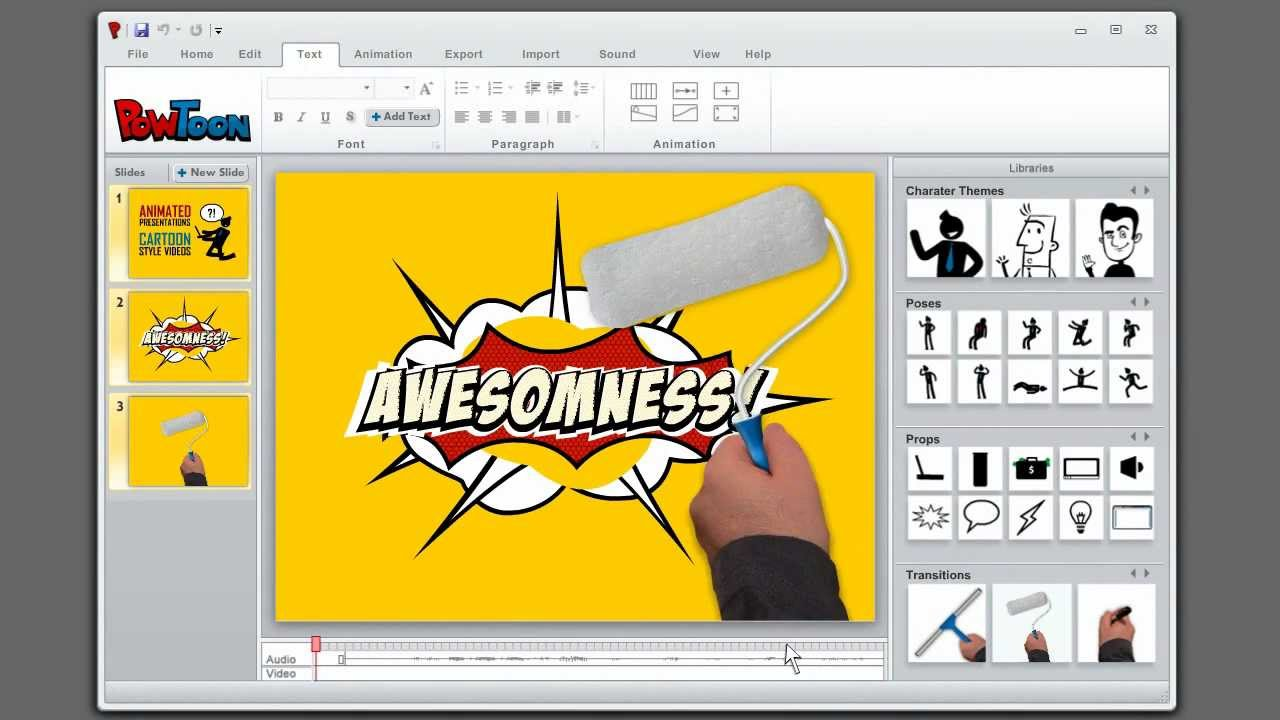 How to create animated presentations. Powtoon.