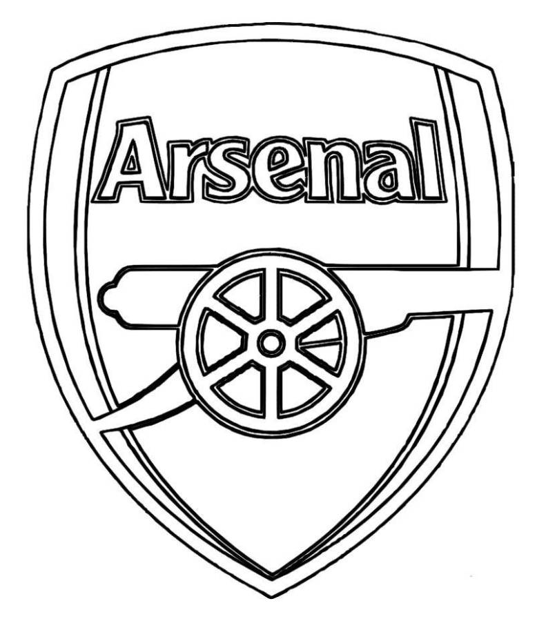 Print Arsenal Logo Soccer Coloring Pages or Download Arsenal.