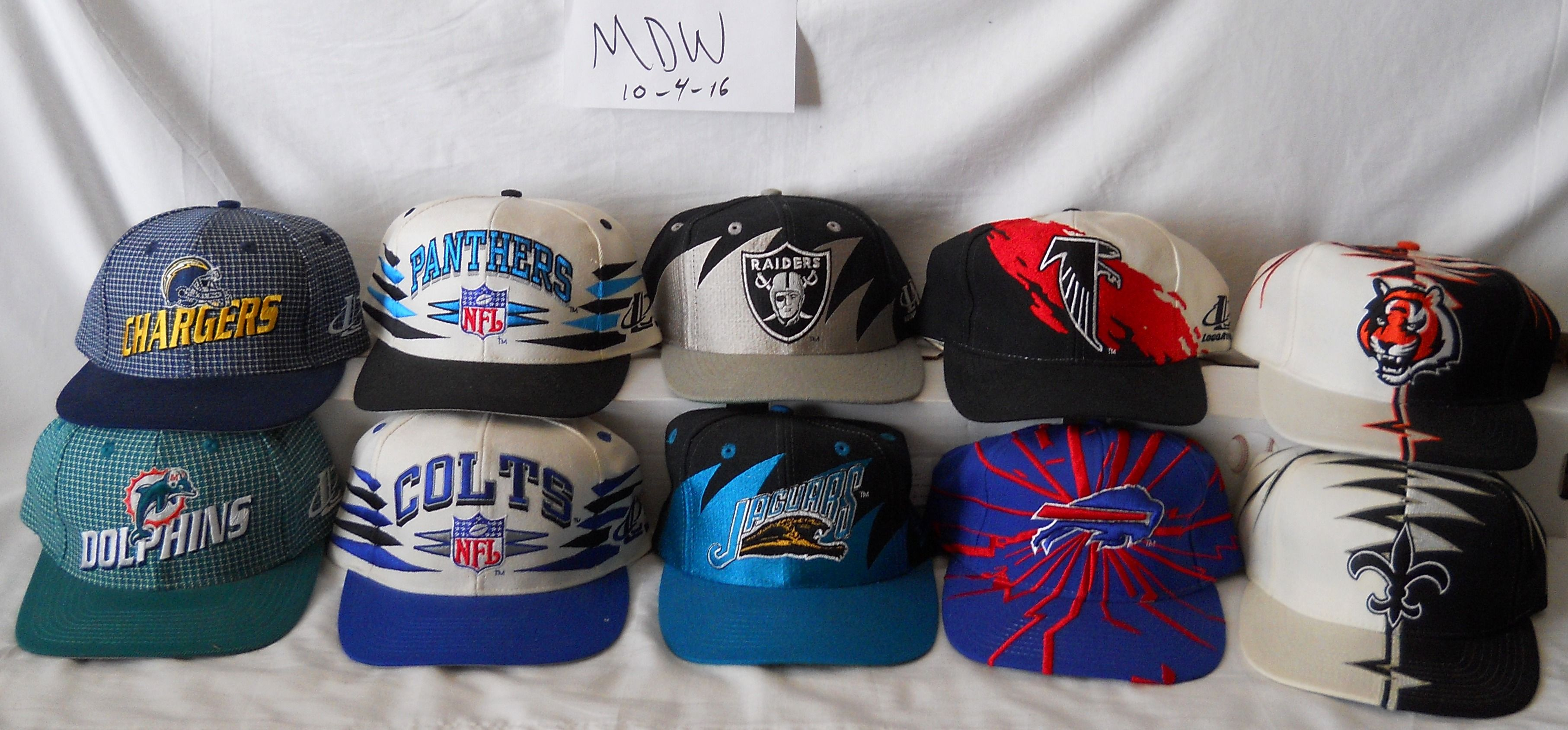 Vintage NFL hats lot 2.