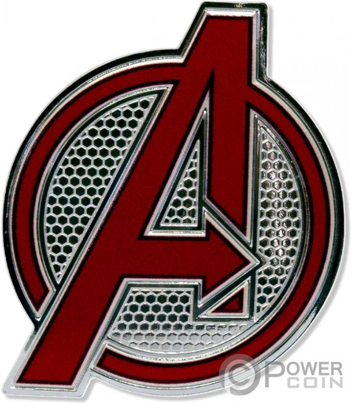 AVENGERS LOGO Marvel 1 Oz Silver Coin 2$ Fiji 2020.