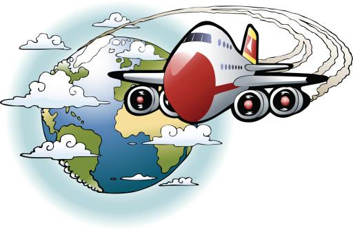 Clipart voyage avion.