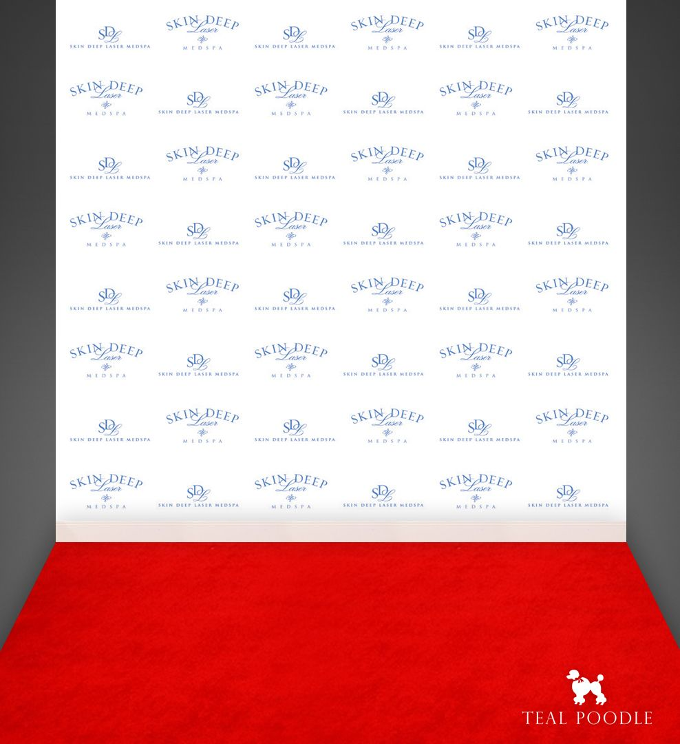 Step And Repeat Event Custom Business Logo Photo Booth.