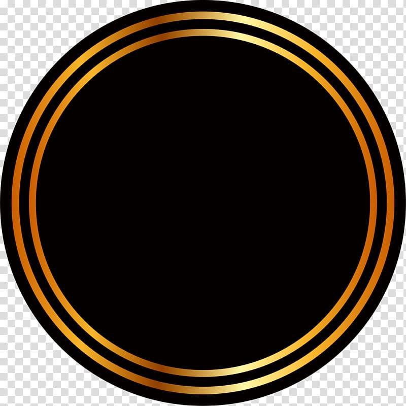 Round black and brown logo, Circle Area Yellow , Golden.