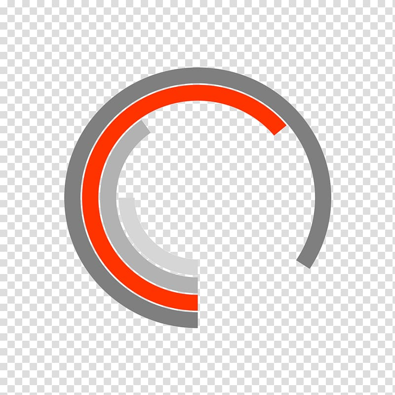 Circle Area Brand Logo, Color ring transparent background.