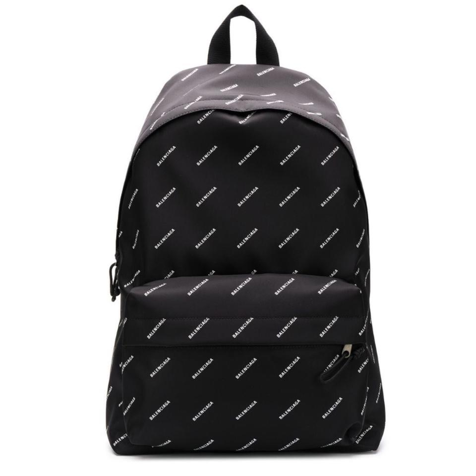 All Over Logo Printed Backpack.