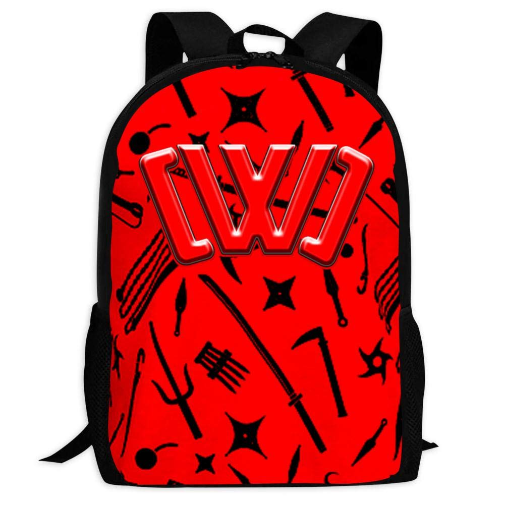 GSGSDG Kids/Youth CWC Logo Backpacks Ninja Weapon Casual School Backpack  Travel Laptop Bag Durable.