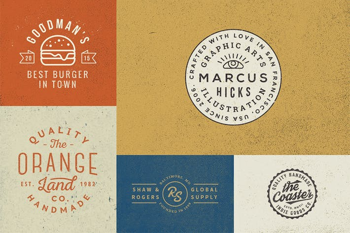 10 Logo/Badge Templates Vol.5 by GraphicBurger on Envato Elements.