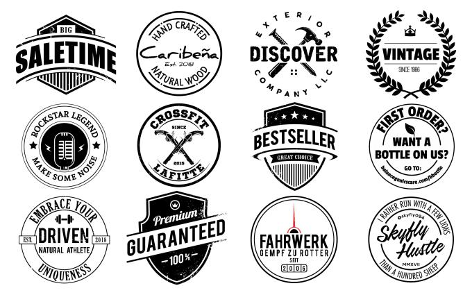 design vintage logo badges stickers and label.