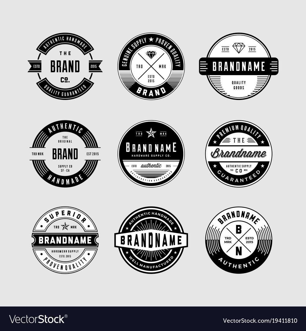 Vintage logo badges.