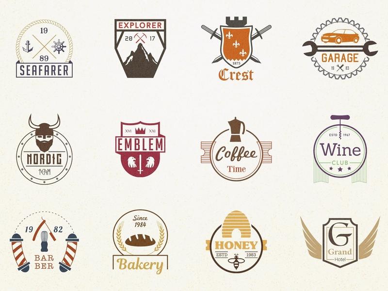 570+ Badges Logo Bundle 92% off by Logo Templates on Dribbble.
