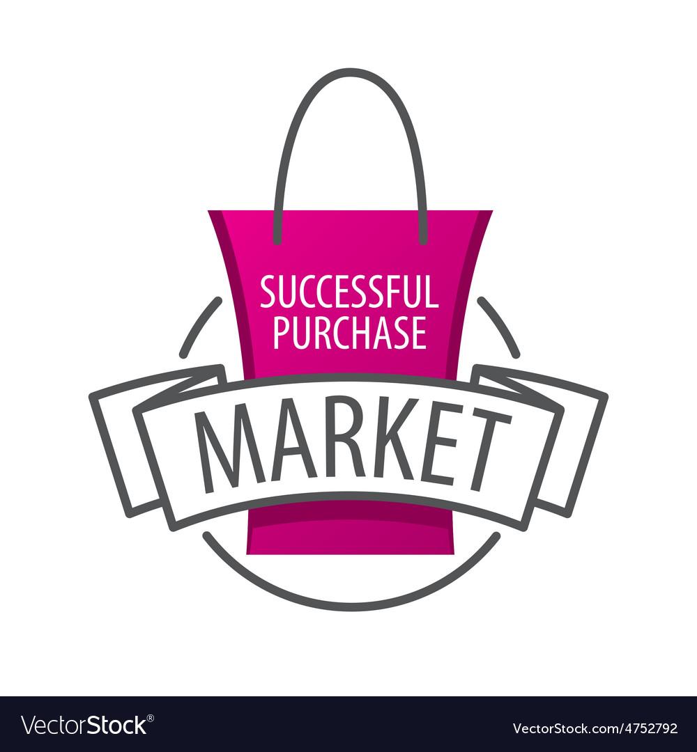 Logo shopping bag on the market.