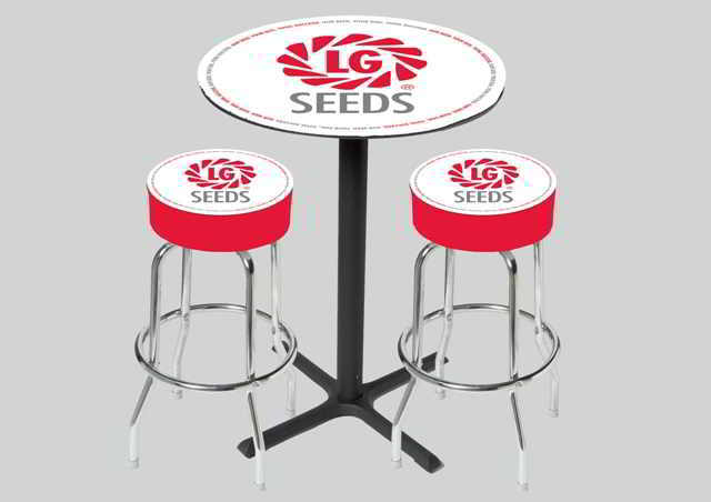 Logo Bar Stool and Table Set.