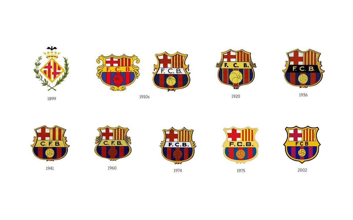 The Barça crest.