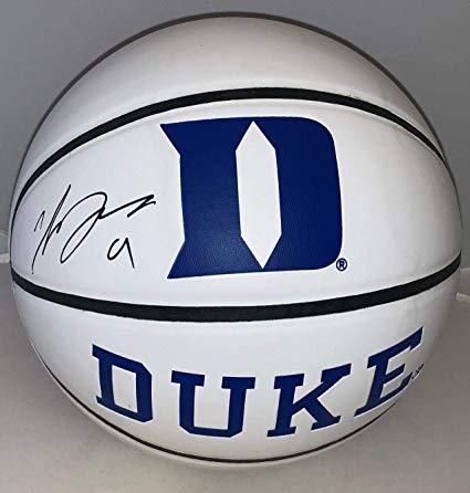 Luol Deng signed Duke Blue Devils F/S Full Size Logo.