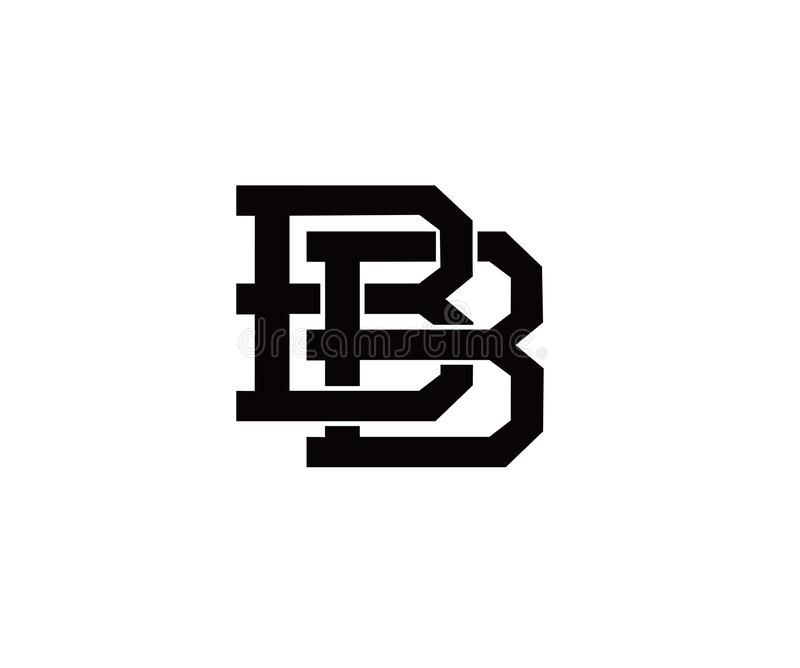 Illustration about Abstract letter BB design illustation.