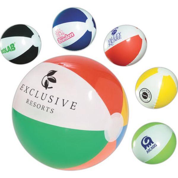 100 Custom Imprinted Classic Beach Ball 10 1/2in.