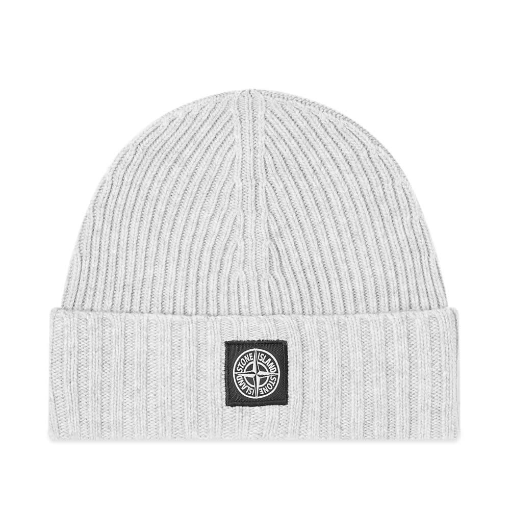 Stone Island Junior Patch Logo Beanie Hat.