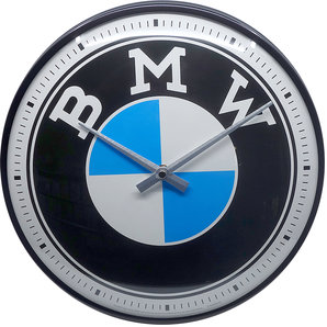 Retro Wallclock BMW Logo Diameter: 31cm.