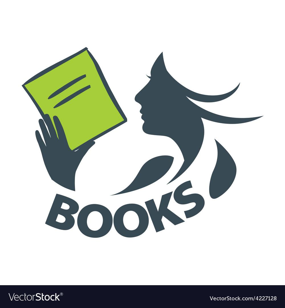Logo girl reading a book.