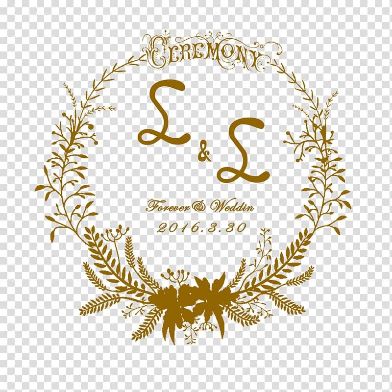 Ceremony border, Logo Wedding invitation Template, Wedding.