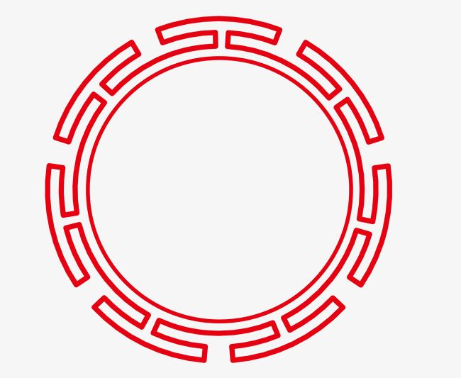 Vector Chinese Red Round Border Png Picture, China Red.