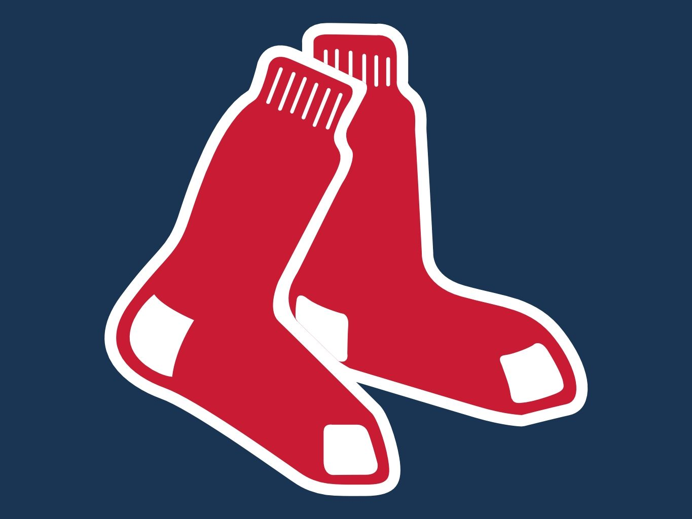 Boston Red Sox Socks Logo.