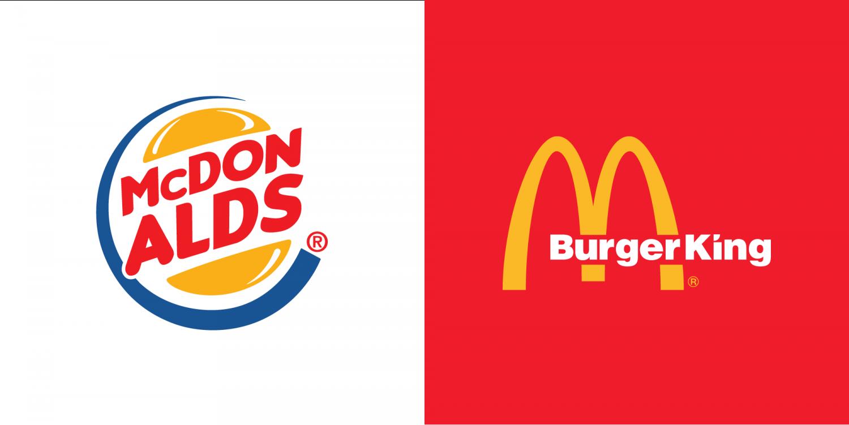Fast Food Logo Mashups.