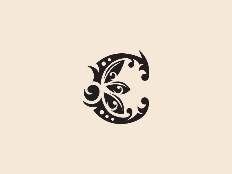 Letter C Florar Clipart by Heavtryq on Dribbble.