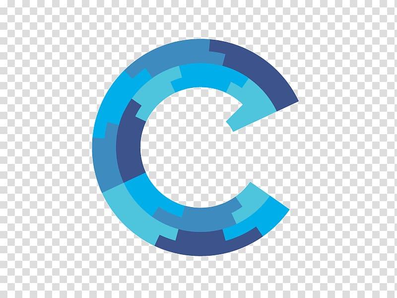 Blue letter C logo , Logo C++ Programmer, letter C.