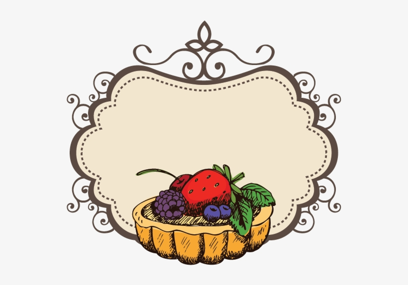 Fruit Cake Logo Design Transparent PNG.