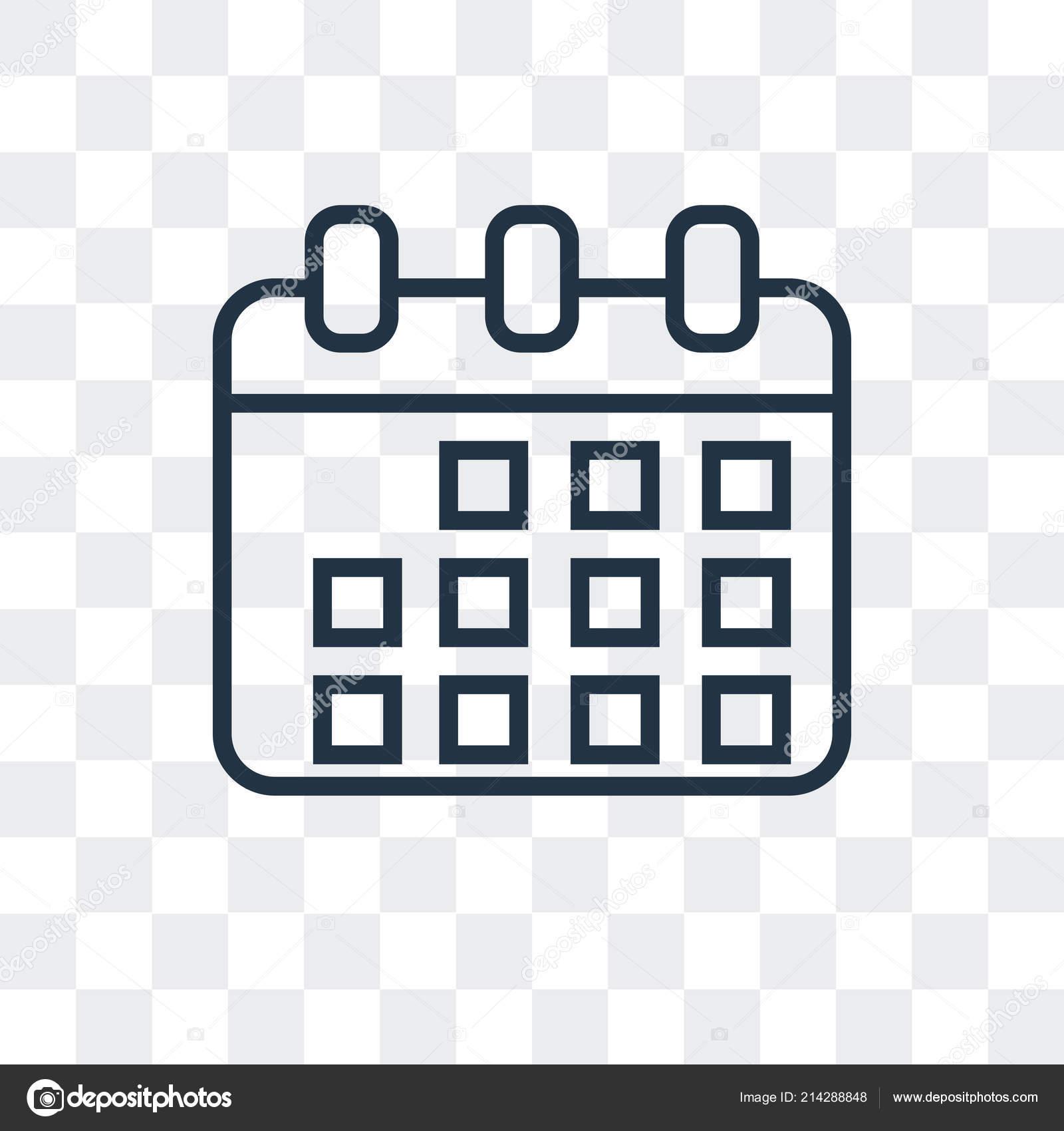 Icône calendrier vecteur isolé sur fond transparent.