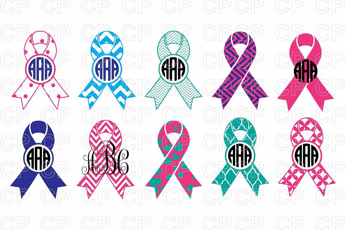 Cancer Ribbons Bundle SVG Cut Files, Cancer Ribbons Clipart.