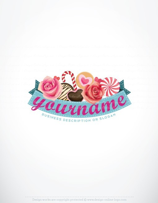 Exclusive Design: Candy Logo + Compatible FREE Business Card.