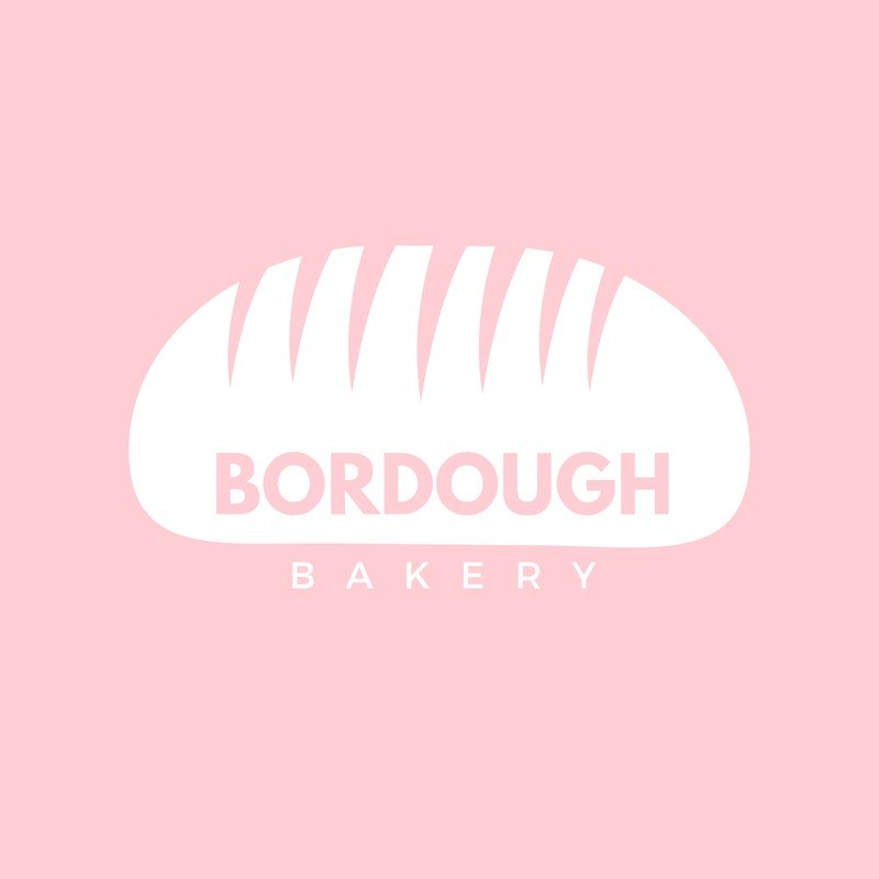 Pink and White Bakery Logo.