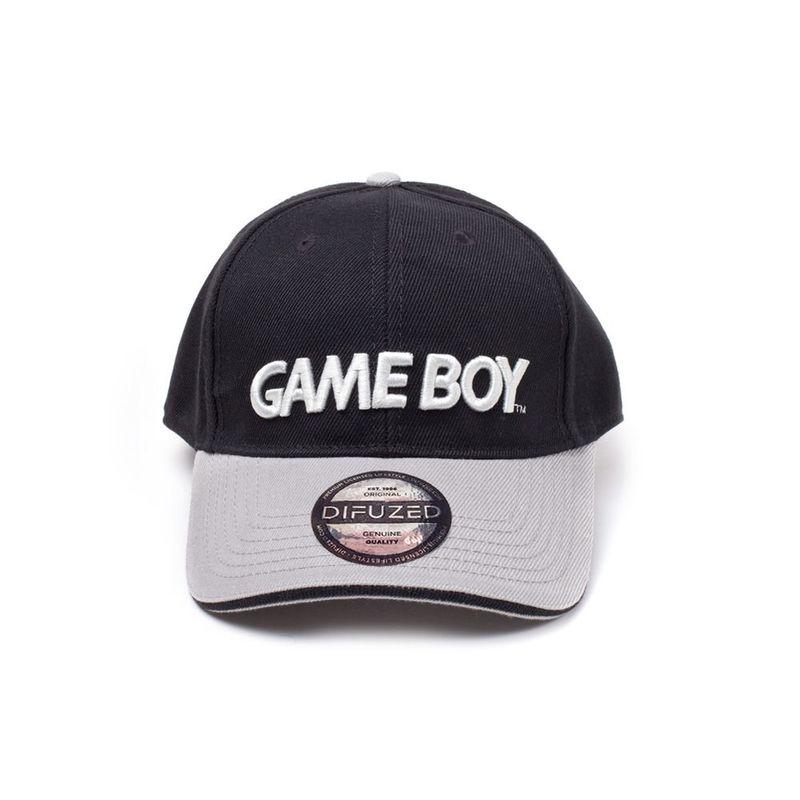 Difuzed Nintendo Black/Grey Gameboy Logo Curved Bill Cap.