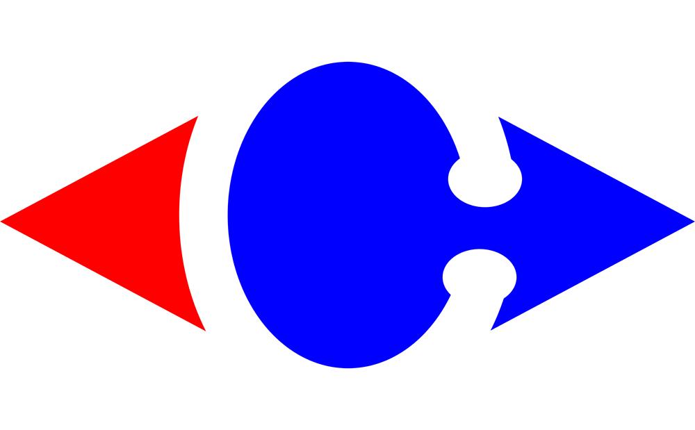 Desain Logo Carrefour.