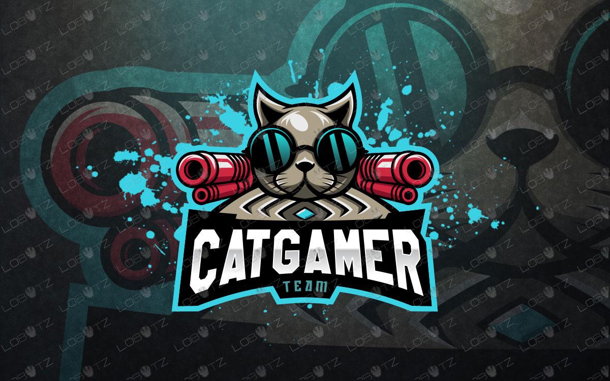 cat mascot logo cat esports logo cat team logo.