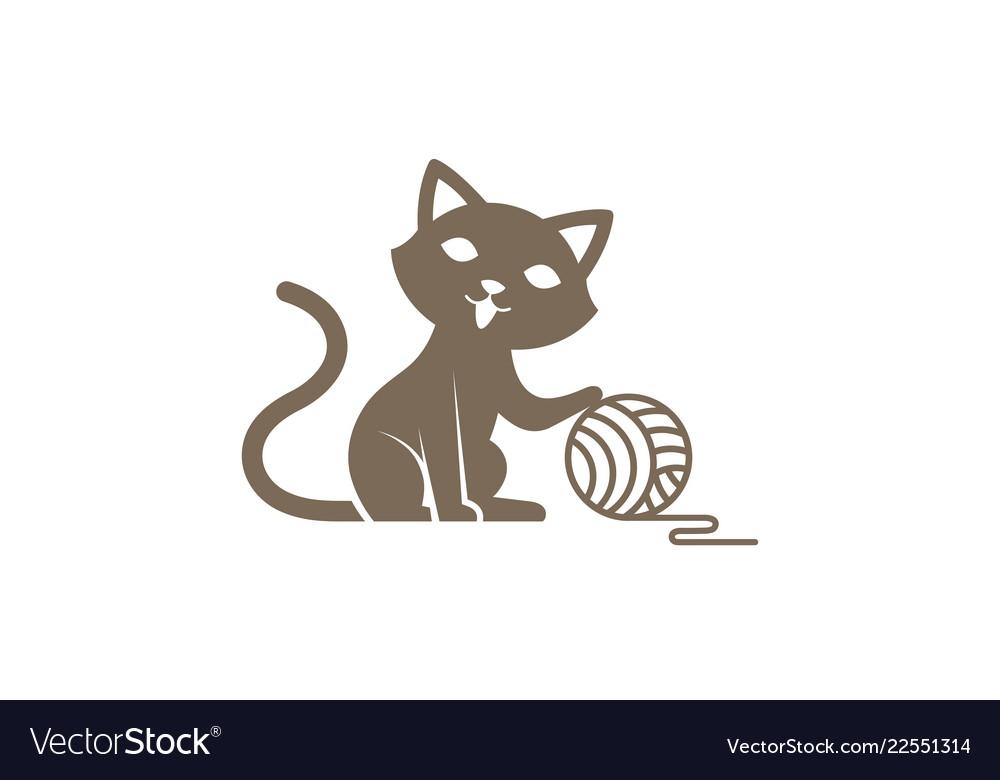 Creative cute cat logo.
