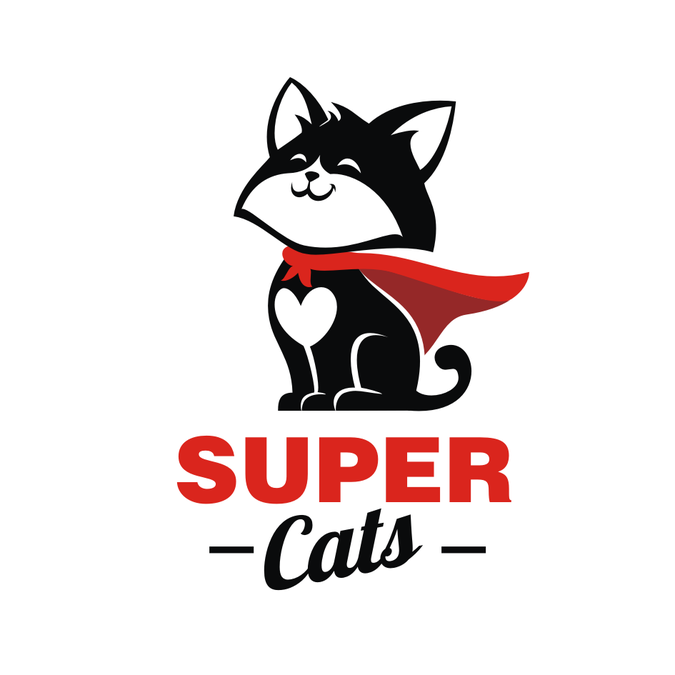 Fun, bold and creative logo for cat lovers.