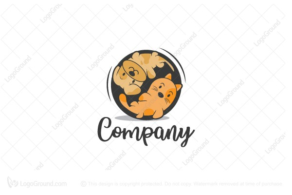 Exclusive Logo 151036, Cat And Dog Logo.