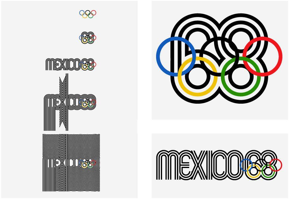 Real World: 1968 Mexico Olympics Logo and Brand Identity.
