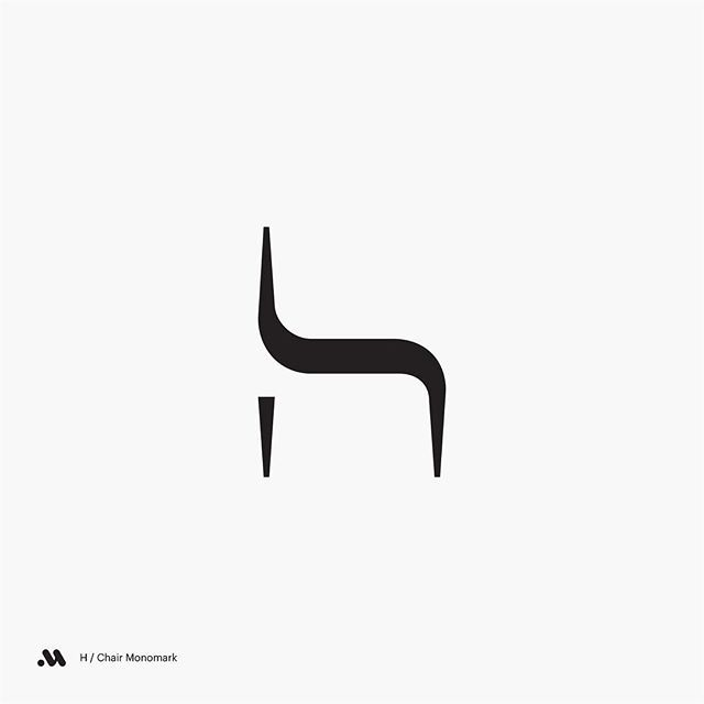 H / Chair Monomark #chair #logo #icon #mark #branding.